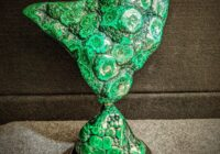 Malachite sculpture